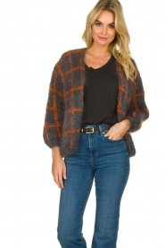 Les tricots d'o |  Woolen cardigan Fine Line | grey  | Picture 3