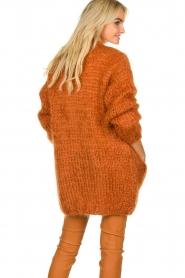 Les tricots d'o | Woolen cardigan Forrest | orange  | Picture 6