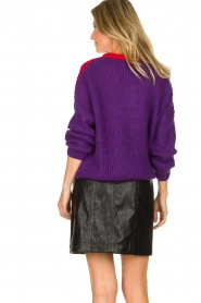 Atos Lombardini | Faux leather skirt Scarlett | black  | Picture 6