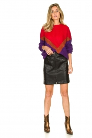 Atos Lombardini | Faux leather skirt Scarlett | black  | Picture 3