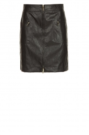 Atos Lombardini | Faux leather skirt Scarlett | black  | Picture 1