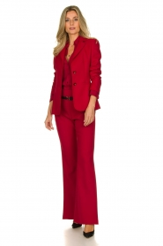 Atos Lombardini |  Flared trousers Rocky | red  | Picture 3