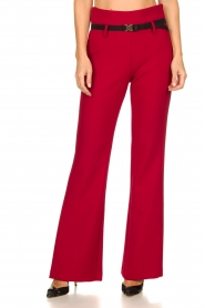 Atos Lombardini |  Flared trousers Rocky | red  | Picture 2