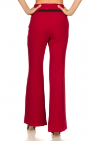 Atos Lombardini |  Flared trousers Rocky | red  | Picture 5