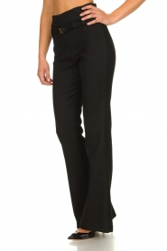 Atos Lombardini |  Flared trousers Rocky | black  | Picture 5