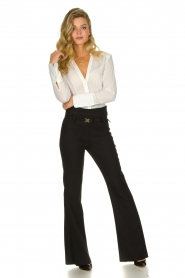Atos Lombardini |  Flared trousers Rocky | black  | Picture 3
