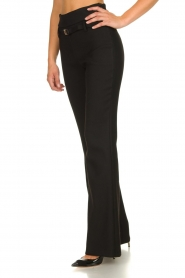 Atos Lombardini |  Flared trousers Rocky | black  | Picture 4