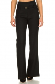 Atos Lombardini |  Flared trousers Rocky | black  | Picture 2
