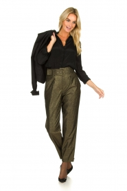 Atos Lombardini |  Glitter pants Ellen | metallic  | Picture 3