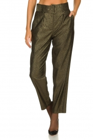 Atos Lombardini |  Glitter pants Ellen | metallic  | Picture 2