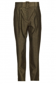 Atos Lombardini |  Glitter pants Ellen | metallic  | Picture 1