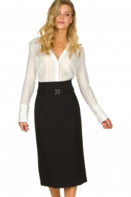 Atos Lombardini |  Midi pencil skirt Jaelle | black  | Picture 2