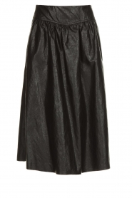 Atos Lombardini |  Faux leather skirt Anita | black  | Picture 1