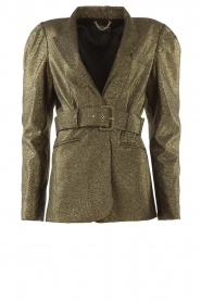 Atos Lombardini |  Blazer with lurex Lucy | metallic gold  | Picture 1
