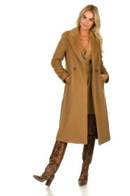 Atos Lombardini |  Blazer dress Carlijn | camel  | Picture 3