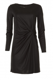 Atos Lombardini |  Dress with pleated details Karly | black  | Picture 1