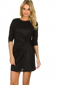 Atos Lombardini |  Dress with pleated details Karly | black  | Picture 4