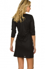 Atos Lombardini |  Dress with pleated details Karly | black  | Picture 6