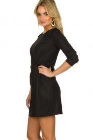 Atos Lombardini |  Dress with pleated details Karly | black  | Picture 5