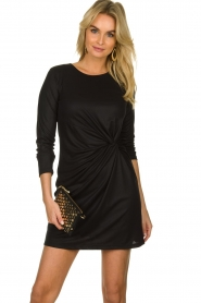 Atos Lombardini |  Dress with pleated details Karly | black  | Picture 2