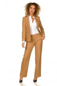 Atos Lombardini |  Classic trousers Dawea | camel  | Picture 3