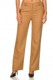 Atos Lombardini |  Classic trousers Dawea | camel  | Picture 2