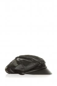 Atos Lombardini |  Faux leather sailors cap Kylie | black  | Picture 1
