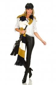 Atos Lombardini |  Faux leather sailors cap Kylie | black  | Picture 2