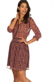 Freebird |  Dress with floral print Kia | pink  | Picture 4
