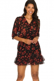 Freebird |  Floral dress Emily | black  | Picture 2