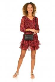 Freebird |  Leopard printed dress Georgia | red  | Picture 3