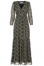 Freebird |  Floral maxi dress Melody | black  | Picture 1