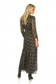 Freebird |  Floral maxi dress Melody | black  | Picture 4