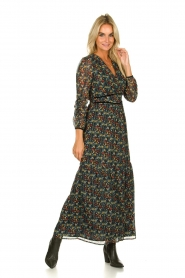 Freebird |  Floral maxi dress Melody | black  | Picture 2