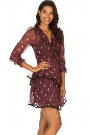 Freebird |  Printed wrap dress Chloe | burgundy  | Picture 5