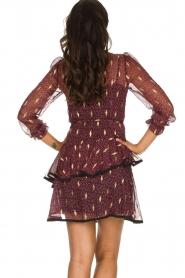 Freebird |  Printed wrap dress Chloe | burgundy  | Picture 6