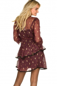 Freebird |  Printed wrap dress Chloe | burgundy  | Picture 6