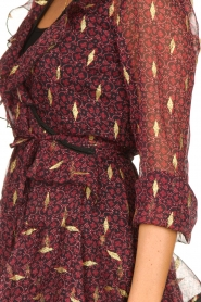 Freebird |  Printed wrap dress Chloe | burgundy  | Picture 7