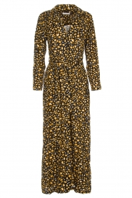 Freebird |  Leopard printed maxi dress Vikas | black  | Picture 1