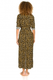 Freebird |  Leopard printed maxi dress Vikas | black  | Picture 6