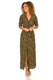 Freebird |  Leopard printed maxi dress Vikas | black  | Picture 2