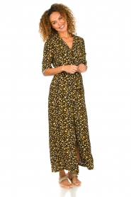 Freebird |  Leopard printed maxi dress Vikas | black  | Picture 4