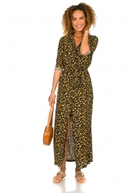 Freebird |  Leopard printed maxi dress Vikas | black  | Picture 3