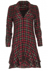 Freebird |  Checkered dress Marilyn | black  | Picture 1