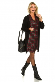 Freebird |  Checkered dress Marilyn | black  | Picture 3