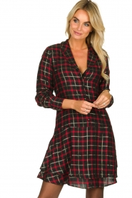 Freebird |  Checkered dress Marilyn | black  | Picture 2