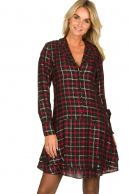 Freebird |  Checkered dress Marilyn | black  | Picture 4