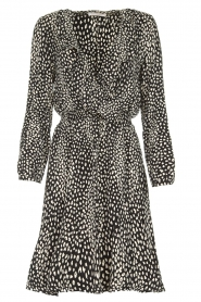Freebird |  Leopard printed dress Gianna | black  | Picture 1