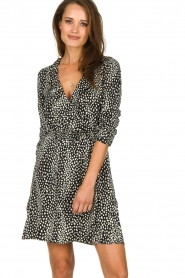 Freebird |  Leopard printed dress Gianna | black  | Picture 2