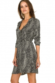 Freebird |  Leopard printed dress Gianna | black  | Picture 4